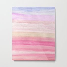 Pastel Watercolor Sunrise Metal Print