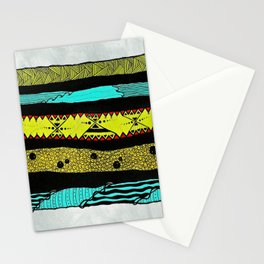 Sideways abstract  Stationery Cards
