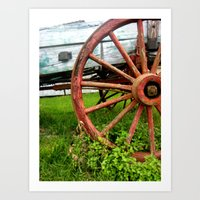 rustic Art Prints featuring Rustic by Meridon