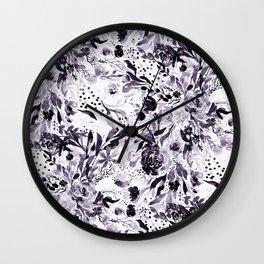 Flower Joy in B+W Wall Clock