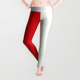 Two nearly perfect Squares - RED/White Leggings