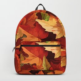 Autumn Leaves Abstract - Painterly Backpack