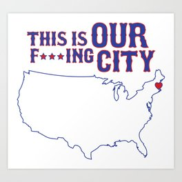 Boston Strong - This is our f***ing city - USA on light Art Print