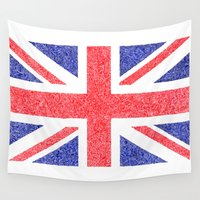 british flag Wall Tapestries featuring The Intricacies of the British Flag by VanZandesign