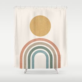 Mid-Century Modern Rainbow Shower Curtain