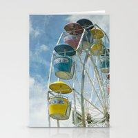 ferris wheel Stationery Cards featuring Ferris Wheel by Mary Kilbreath