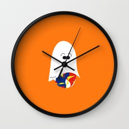 Ghost Jelly Bean,  Bonbon fantôme - Halloween party Wall Clock