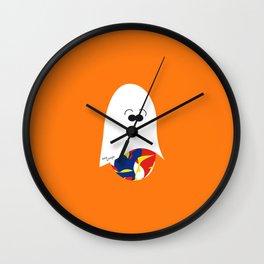 Ghost Jelly Bean,  Bonbon fantôme - Halloween party Wall Clock