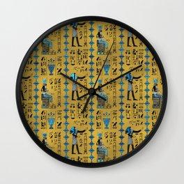 Egyptian  Ornament Symbols Pattern Wall Clock