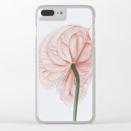 Pink Anthurium Clear iPhone Case