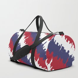 NY USA Candy Cane Skyline in Red White & Blue Duffle Bag