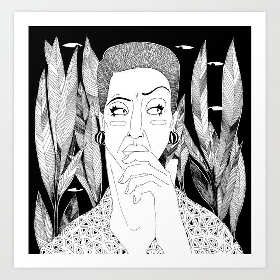 What was that noise? Art Print