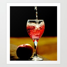 Wine and Apple Art Print