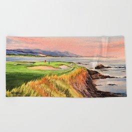 Pebble Beach Golf Course 7th Hole Beach Towel