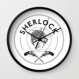 Sherlock and revolvers Wall Clock