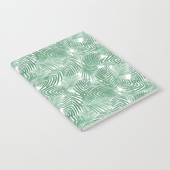 Palm frond tropical vacation green white house plant gender neutral natural organic garden island Notebook
