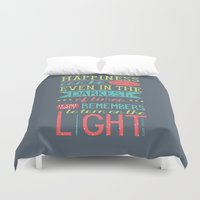 happiness Duvet Covers featuring Happiness by Dorothy Leigh