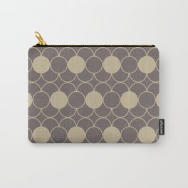Beige Decorative Pattern Carry-All Pouch