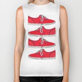 Red Shoe. Biker Tank