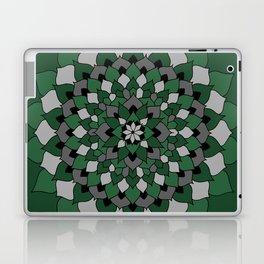 Green & Silver Floral Mandala Laptop & iPad Skin