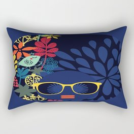 Afro Diva : Sophisticated Lady Blue Rectangular Pillow