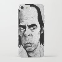 nick cave iPhone & iPod Cases featuring Nick Cave by Mr Shins
