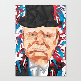 Portrait of Sir Winston Churchill Canvas Print