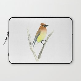 Cedar Waxwing in Watercolor Laptop Sleeve