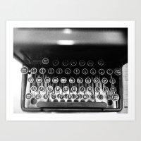 typewriter Art Prints featuring Typewriter by Madison Daniels