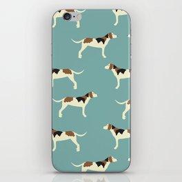 Tree Walker Coonhound in blue iPhone Skin