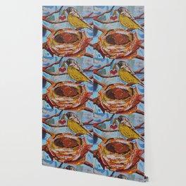 La Belle Bird & Nest Wallpaper