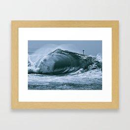 The Wedge Blue Barrel  Framed Art Print