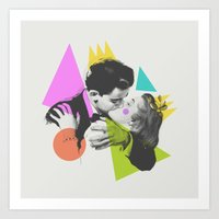 kiss Art Prints featuring Kiss by Zeke Tucker