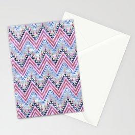 Pena Chevron Silver Stationery Cards