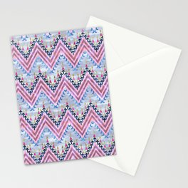 Pena Chevron Silver Stationery Cards