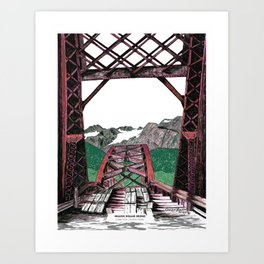 Million Dollar Bridge Art Print