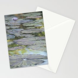 Water Lilies Afloat Stationery Cards
