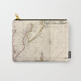 Vintage Map of New Netherland (1672) Carry-All Pouch