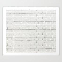 White Brick Wall Tapestry Art Print