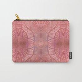 Paris Royal - Watercolor Art Deco Pattern Coral Carry-All Pouch