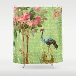 Flower Flamingo Shower Curtain