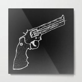 Revolver Black Metal Print