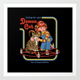 Caring for your Demon Cat Art Print