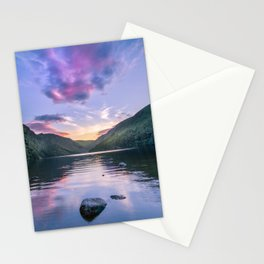 Wicklow Glendalough sunset over lake Stationery Cards