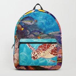Zach's Seascape - Sea turtles Backpack