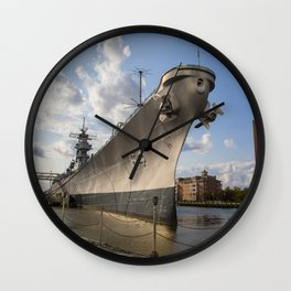 USS Wisconsin Wall Clock