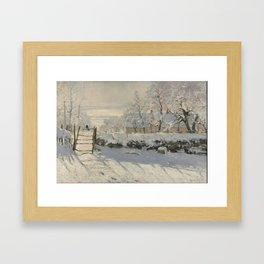 Claude Monet  -  The Magpie Framed Art Print