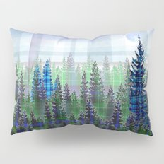 Nature Reflected Plaid Pine Forest Pillow Sham