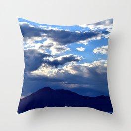 Blue Sky Dusk Throw Pillow