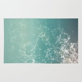 Fresh summer abstract background. Connecting dots, lens flare Rug
